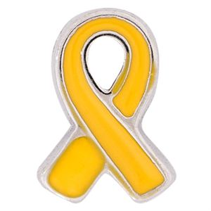 Picture of Yellow Ribbon: Support Our Troops Charm