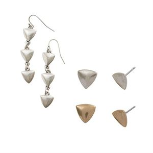 Picture of Gold Arrow Earring Set